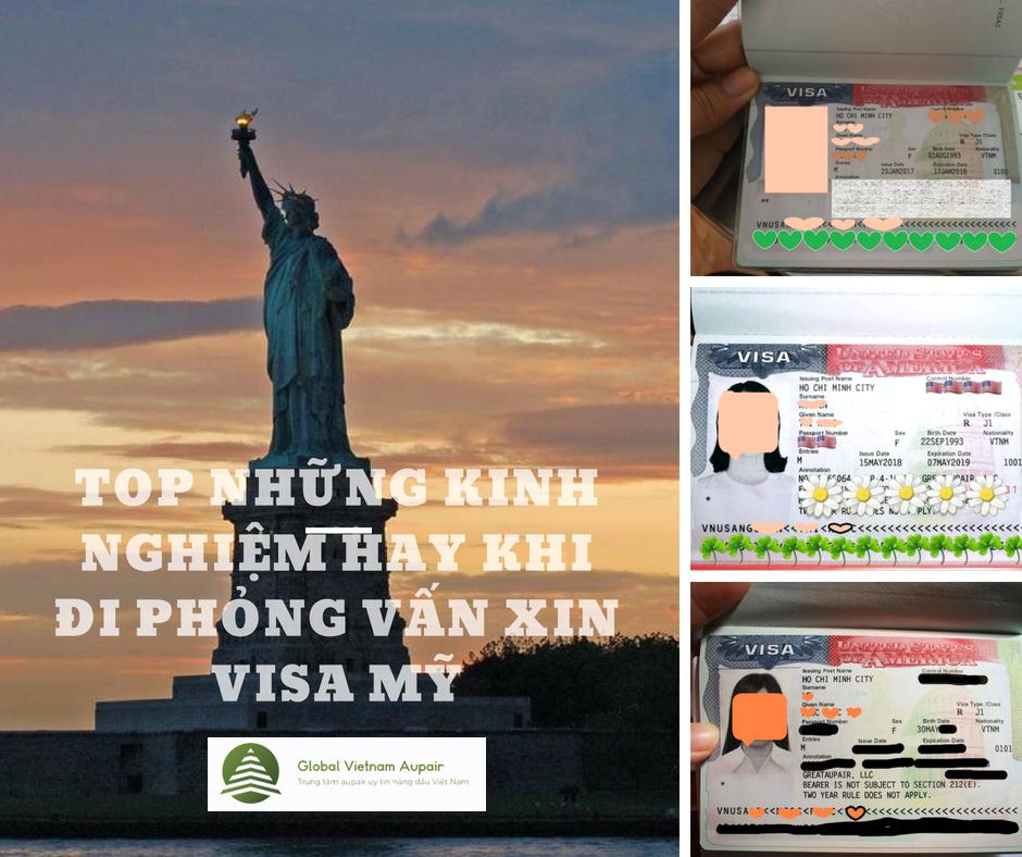 Top những kinh nghiệm hay khi đi phỏng vấn visa Mỹ
