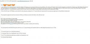 Mail ma scammer gui cho ban ay