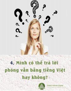 Co the tra loi phong van bang tieng Viet hay khong?