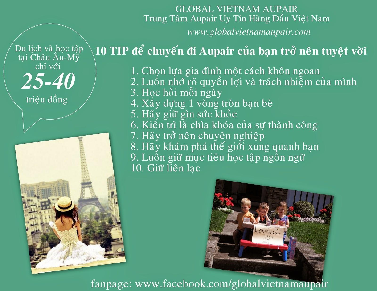 10 TIP để làm cho chuyến đi Aupair của bạn trở nên tuyệt diệu.